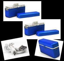 2X 2800MAH PORTABLE EXTERNAL BLUE BATTERY CHARGER USB IPHONE 4S 4 3GS IPOD NANO