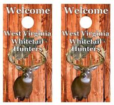 Welcome West Virginia Whitetail Deer Hunters Cornhole Board Deca Wrap w/Squeegee