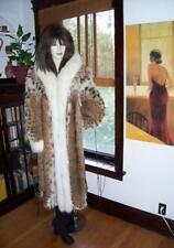 Montana Lynx & White Fox Fur Coat Big Sweep