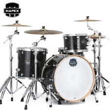 "NEW Mapex SATURN V Tour Edition 24"" 3-Piece Drum Set Shell Pack Black Pearl"