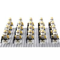 20x 212th Yellow Clone Troopers Mini Figures (LEGO STAR WARS Compatible)