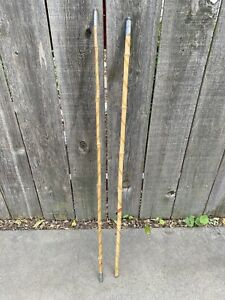 Antique Vintage Bamboo 2 Of 3 Pieces straight INDIAN HEAD RIPLEY, MISSISSIPPI