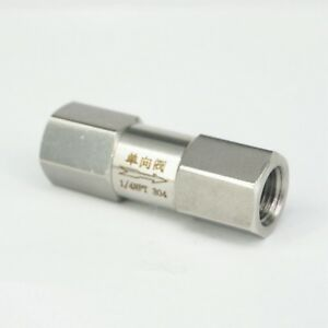 """1/4"""" NPT Female Check One Way Valve 304 Stainless Steel Water Gas Oil Non-return"""