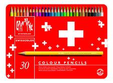 CARAN D'ACHE SWISSCOLOR COLOURED PENCILS - Tin of 40 Assorted Colours