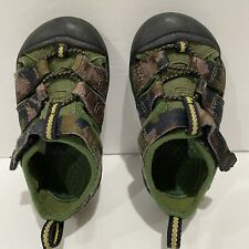 Keen Toddler's Sandals Green Brown Camo Size 7 Toddler Unisex