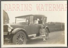 Vintage Car Photo Cute Girl w/ 1926 1927 Oldsmobile Olds Phaeton Convert 707788
