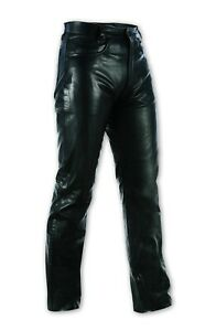 Mens JEANS Pants Trousers Cruiser Motorbike Motorcycle Soft Leather Bikers 44