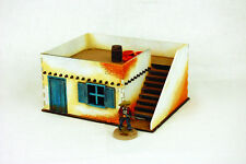 Old West Cowboy Building ADOBE HOUSE WITH STAIRS 25mm, 28mm Terrain A003