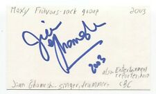 Moxy Fruvous - Jian Ghomeshi Signed 3x5 Index Card Autographed Signature