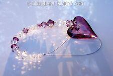 m/w Swarovski Crystal LILAC SHADOW Wild Heart SunCatcher Lilli Heart Designs