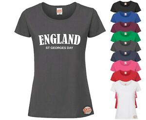 England St, Georges Day! LADIES Funny T-Shirt, Slogan Tee Rude Joke Ideal Gift