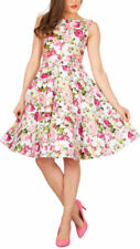 Rockabilly Boat Neck Party Dresses for Women