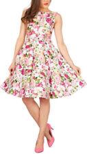Rockabilly Boat Neck Sleeveless Dresses for Women