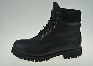 Timberland Premium Black leather 10054 Men's Boots Size UK 9