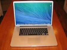 """17"""" Apple MacBook Pro 2.4 GHz Quad Core i7 + 1 TB Solid State Drive! + ULTIMATE!"""