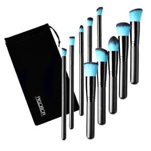 10 Pcs Cosmetic Brushes Set Foundation Powder Eye Eyeshadow Brush with Bag