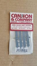 Cannon & Company HO EMD hood unit doors 22x65 w/3 hinges & sight glass #HD-1004