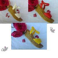 Scarpe aperte Donna Sandali con Cinturino Zeppa 8 cm scarpe comode estive ITALY