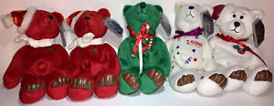 Limited Treasures w Tags Holiday 1998 Bears Lot of 5 Sugar Cane Celebration...
