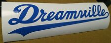 "Dreamville decal jdm kdm static blue banner car stance 8"" decal sticker"