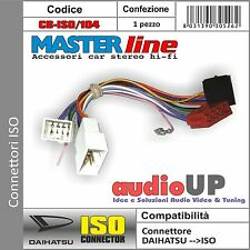 CONNETTORE ISO RADIO ORIGINALE PER DAIHATSU TERIOS. ADATTATORE MASTERLINE
