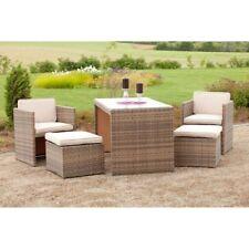 Gartenmöbel Set Rattan Sitzgruppe Glastisch Lounge Tischgruppe Gartengarnitur