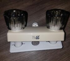 "4"" Shower Faucet RV CAMPER Parchment w/ Smoke Handles Diverter UF08463S"