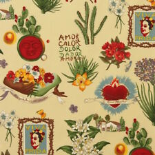 1m Viva Frida Parchment Fabric - Alexander Henry PER METRE Kahlo Mexican day of