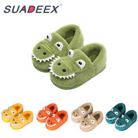 Boys Girls Warm House Slippers Toddler Kids Fur Lined Indoor Bedroom Shoes US