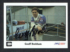 Geoff Brabham #5 signed autograph auto 1987 A&S Racing PPG Indy Trading Card