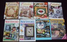 BULK LOT x 8 EMBROIDERY, CROSS STITCH, CRAFT MAGAZINES