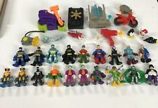 Playskool Imaginext 19 Figure Lot DC Marvel Heroes Villains and accessories