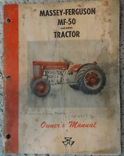 Oem Massey-Ferguson Mf-50 Gas/Diesel tractor Owners Manual