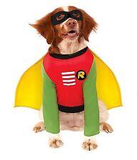 ROBIN DOG COSTUME Small Pet 887836 Superhero Rubies Fancy Dress Cape Comic NEW