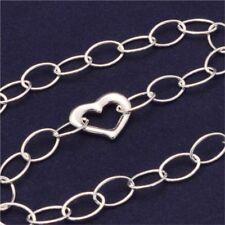 Italian Sterling Silver Heart Accent Bracelet (B104)