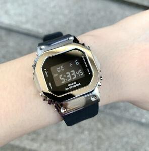 Casio G-Shock *GMS5600-1 S Series Digital Silver Steel Black Resin Watch Women