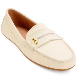 NEW Lauren Ralph Lauren Women's Belen Loafer Flats Size 6.5 B Eggshell $110