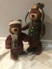 New! Cute Pair Of Handcrafted Beavers. Outdoorsy Hunting. Man Cave. Cabin C12