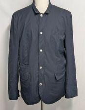 Brunello Cucinelli NWT Mens 54 (L) Blue Nylon Wind Waterproof Lightweight Jacket