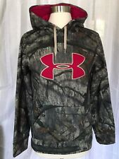 Under Armour Women's S Camo Big Logo Hoodie Hunting Stitched Mossy Oak Treestand