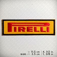 PIRELLI EMBROIDERED PATCH IRON ON SEW Racing Decorate Clothes D.I.Y Sports F-1