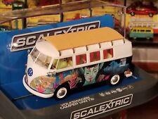 SCALEXTRIC Slot Car 1:32 Volkswagen Camper Van TYPE 1B DPR Lights New Bus VW