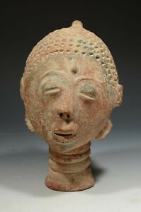 African Akan Pottery Memorial head (nsodie)
