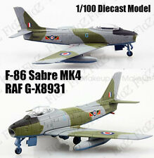 Royal Air Force F-86 Sabre MK4 G-X8931 1:100 diecast Aircraft plane Atlas Model