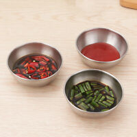 6 pcs Seasoning Dishes Stainless Steel Bowl Soy Sauce Holder for Home Restaurant