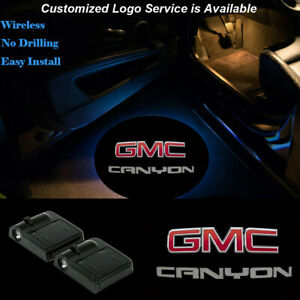 Wireless Car Door LED Red GMC Projector Ghost Laser Shadow Light For CANYON