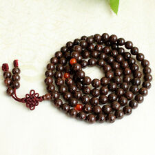 10mm Tibet Buddhism 108 red dot star & moon bodhi seeds Mala Necklace