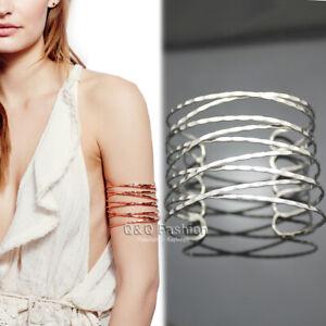 Greek Roman Twisted Cross Cage Bracelet Armband Upper Arm Cuff Armlet Bridal