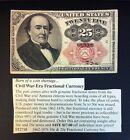 25 Cent Civil War Era Fractional Currency (AU Condition) for sale