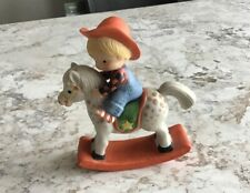 Enesco Country Cousins Scooter on Rocking Horse